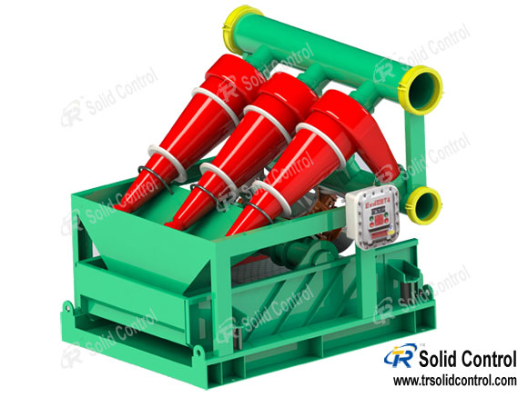 China mud desander, drilling desander manufacturer, desander with 3 pcs hydrocyclones