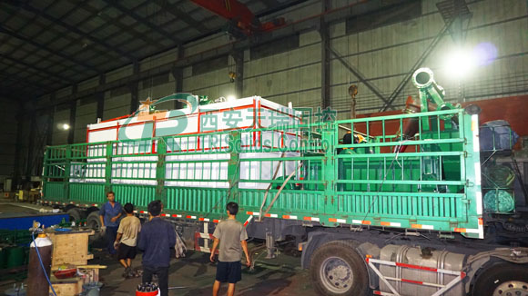 Drilling mud tank, mud desander, centrifugal pump for HDD client