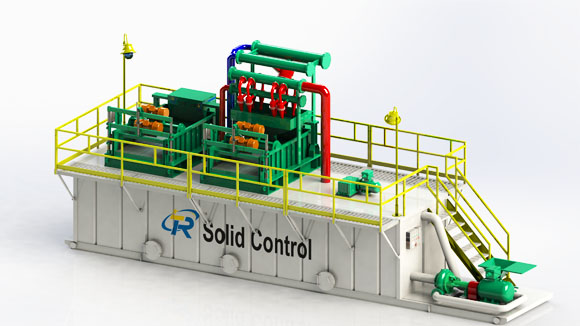 Mud recovery purification system for HDD trenchless, solid control units