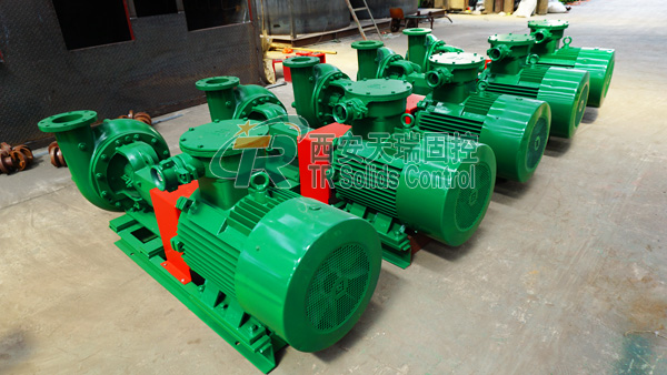 Centrifugal pump for mud circulating system, high speed centrifugal pump