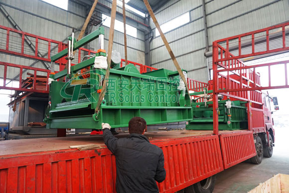 Drying shale shaker with short delivery, shale shaker for drilling waste management