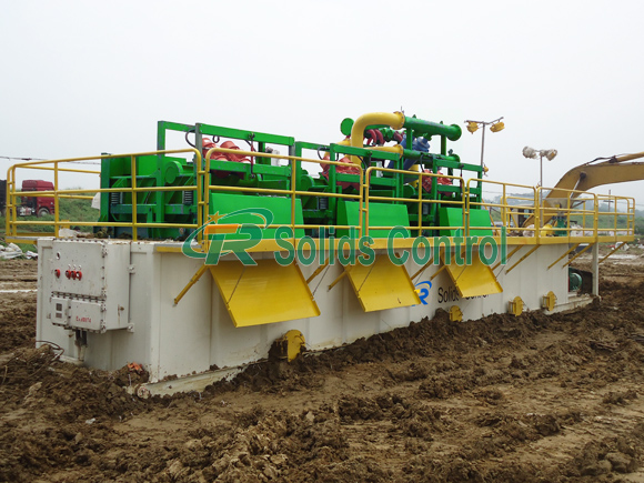 HDD solids control unit, mud cleaning system for HDD industry