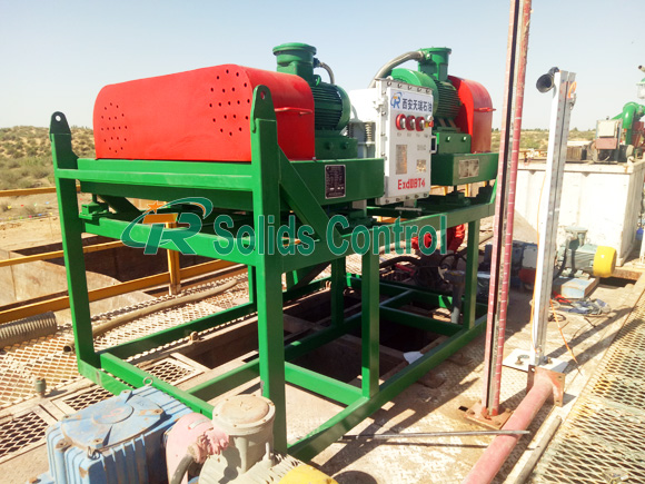 Decanter centrifuge for drilling waste management, high standard mud centrifuge