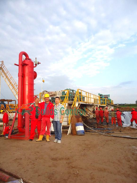 Oilfield mud gas separator, China mud gas separator supplier