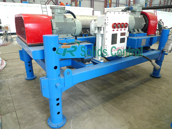 Drilling fluid decanter centrifuge, mud centrifuge for drilling waste management