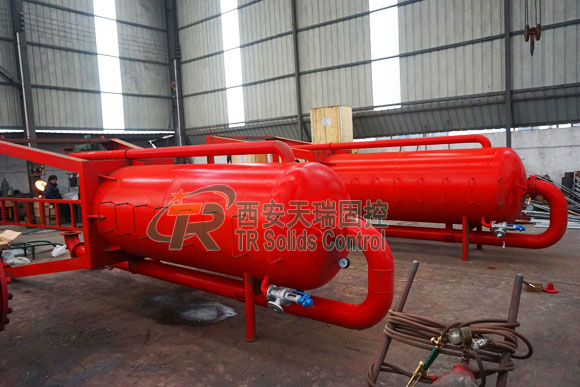 Factory price mud gas separator, oil drilling mud gas separator