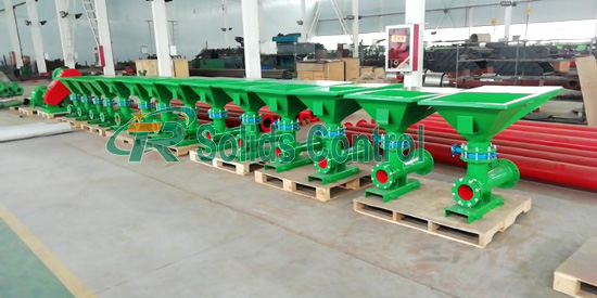 Mud mixing hopper, drilling fluid mud hoppers