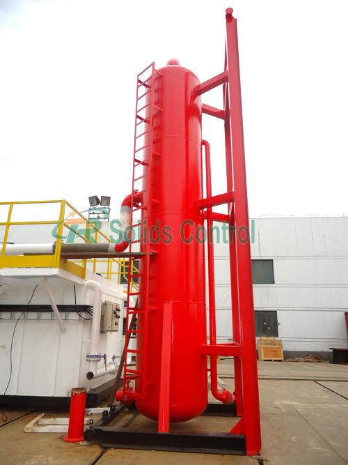 Oilfield mud gas separator, drilling liquid gas separator
