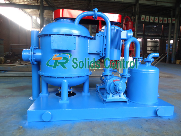 Vacuum degasser for oil and gas, drilling fluid vacuum degasser