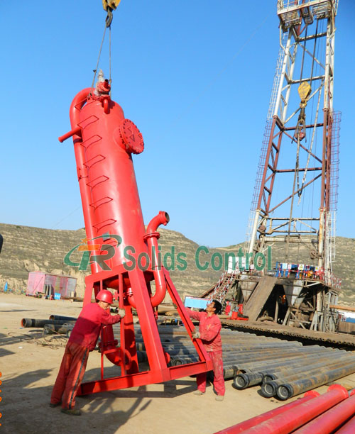 Mud gas separator for oil and gas, liquid gas separator