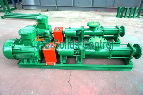 Centrifuge supply screw pump, solid control screw pump